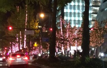 御堂筋ライトアップ・ピンク