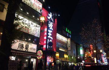 御堂筋の大阪王将の夜景