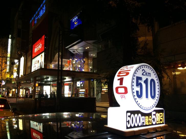 阪急東通り商店街の南向きの夜景