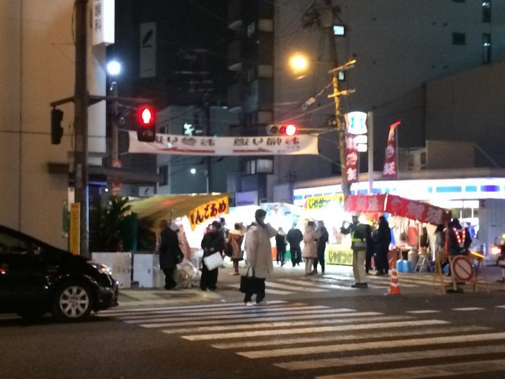 今宮戎の南側の参道-2018-0110