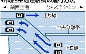 関空連絡橋をタクシーが通行出来るようになりました。