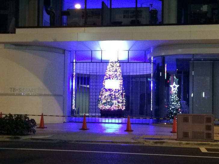 タカラベルモントのクリスマスツリー-2018-1126